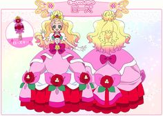 Princess Cure Flora-Elegant mode2 /slide2 GPP GO! PRINCESS PRECURE