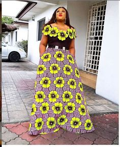 Ankara Gown Styles 2020 You Should Try Out: Latest Fashion Styles for Ladies! Ankara styles are design wears made with colors and patterns of Ankara prints, . Latest Ankara Gown, Ankara Long Gown Styles, Ankara Styles For Women, Latest Ankara Styles, Ankara Gowns, Ankara Blouse, African Wear Dresses, African Attire, African Print Fashion