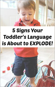 Are you concerned that your toddler isn't saying much? Here are five signs that your toddler's language is about to explode! Written by a speech therapist and mom of toddler twins.
