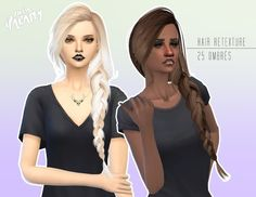 Ombr� retexture of skysim�s hair 257 at Miss Paraply � Sims 4 Updates