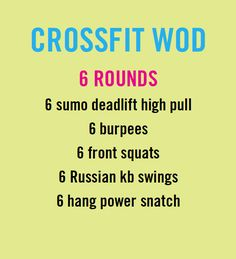 crossfit workout (WOD)