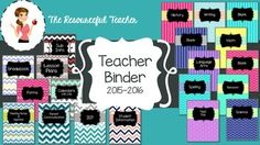 Keep your school year organized with this fully editable Teacher Binder.  Buy it once, update it every year for FREE! Binder can be used for K-8th grades.  2 options included to be fully editable powerpoint file or a pdf version.  Since it's editable, you can personalize every part of it, or use it just as it is!