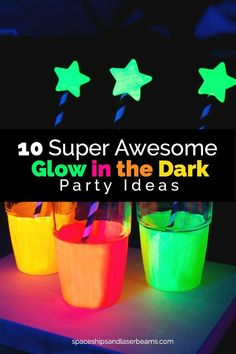 32 Ideas for birthday party ideas sweet 16 glow sticks Glow In Dark Party, Glow Stick Party, Glow Sticks, Glow Party Food, Black Light Party Ideas, Neon Birthday, 13th Birthday Parties, Slumber Parties, 16th Birthday