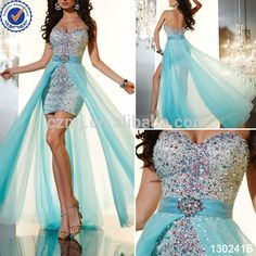 Source 2014 latest hotsale sweetheart sequin beading crystal prom dress with detachable train on m.alibaba.com