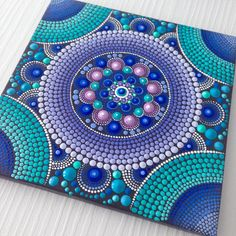 RESERVED for GINA Original Mandala Painting on Canvas