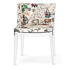 Fauteuil Mademoiselle Moschino - Esquisse/structure transparente