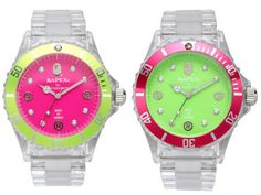 Pink and Green Watches!!!