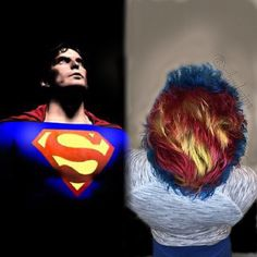 "💥THE MAN OF STEEL💥 (STILL LIVE ON PERISCOPE  REPLAY) When @hairbyjosephtrace comes to town, typically fun ensues. I dreamed days ago about doing the ULTIMATE superhero for the #SuperPopLocks contest. Who MORE iconic than #SUPERMAN ??? Thankfully Joseph always responds with ,""ok!lets do it "" I prelightened him with #joico cream lightener and 20vol with #olaplex . I then toned with #kenra rapid toner 3pts SV 1ptVP For his fashion color, I mixed Joico cobalt/pravana locked in blue/blissful…"