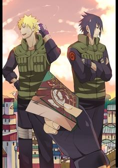 Kakashi: either of you guys interested? Naruto: I don't think Hinata would like me reading that. Sasuke: Not even remotely interested. *Plus, Sakura would kill me if she saw me with that* Sasuke X Naruto, Anime Naruto, Manga Anime, Fanarts Anime, Naruto Shippuden Anime, Gaara, Hinata, Kakashi Sensei, Sasunaru