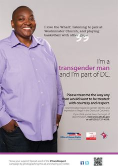 DC launches first ever transgender respect ad campaign!