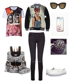 """""""Untitled #147"""" by ashl3y-13 ❤ liked on Polyvore featuring Frame Denim, Vans, CÉLINE, Free People, Byme, Sakroots and Faith Connexion"""