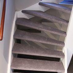 Open trap met Parade Verona, warm grijze kleur.