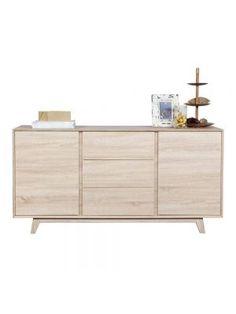 LEF collections Dressoir Raval , eiken fineer, 76x45x150cm, bruin