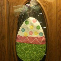 Easter egg burlap door hanging