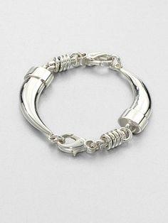 Pomellato 67 Sterling Silver Tusk Bracelet
