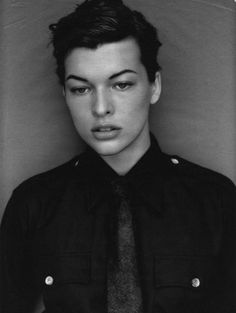 milla jovovich by michael thompson. for w magazine, september 1996.