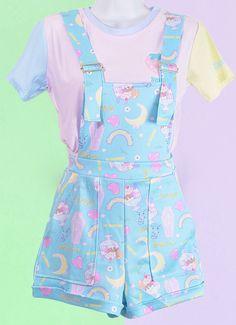 Fairy Kei Pattern Overalls