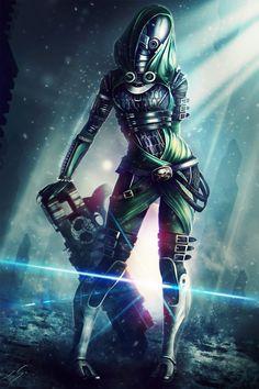 S H A L A - Mass Effect OC by Eddy-Shinjuku.deviantart.com on @deviantART