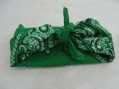 Bandana Marroquina Verde R$ 15,00  www.elo7.com.br/dixiearte