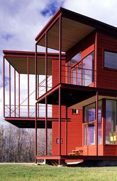 Y HOUSE Catskills, NY, United States, 1997-1999/Steven Holl Architects