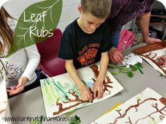 Making Leaf Rubs for Henri Rousseau Lesson | Harrington Harmonies