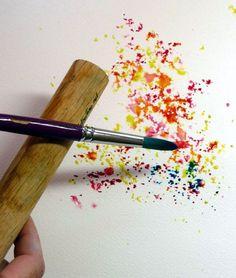 DIY Watercolor Painting.