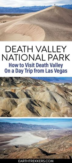 Plan the perfect day trip to Death Valley from Las Vegas. Visit Dante's Point, Zabriskie Point, Badwater Basin, the Mesquite Flat Sand Dunes, and more. #deathvalley #lasvegas #daytrip #nationalpark