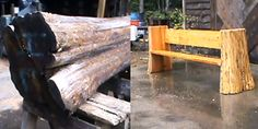 How to make a Bench from a Log and a Chainsaw