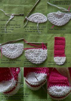 Patucos deportivos de ganchillo/crochet. Converse. Paso 5