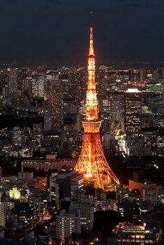 Tokyo nightscape with Tokyo Tower