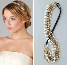Diadema de perlas y cadenas  -  Diadem of pearls and chains
