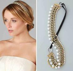 Diadema de perlas y cadenas  -  Diadem of pearls and chains