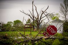 THURMAN, IA - APRIL 14:  Damage from an apparent tornado is seen April 14, 2012 in Thurman, Iowa. The storms were part of a massive system that affected areas from Northern Nebraska south through Oklahoma. (Photo by Eric Francis/Getty Images) Photo: Eric Francis, Getty Images / 2012 Getty Images