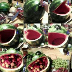 How to make a frog fruit bowl.