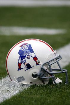 Patriots Throwback Helmet Football Helmet Design c9a4c2b27e3