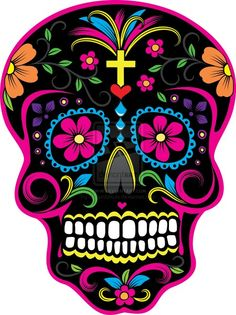Sugar Skull Sticker - Day of the Dead Car Decal - SAME PRICE ALL SIZES #UK26