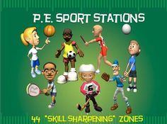 """""""SKILLTASTIC""""!!! The following 44 """"sport-specific"""" stations (and corresponding Station Cards) have been created as an aid for a PE Teacher, Classroom Teacher or Small Group Leader in a camp or church."""