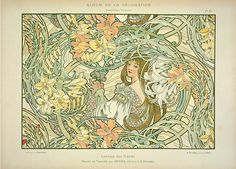 Alphonse Mucha: In Quest of Beauty is the latest exhibition at the Sainsbury Centre for Visual Arts. Pictured is Alphonse Mucha Illustration Art Nouveau, Art Nouveau Poster, Art Deco Artwork, Cool Artwork, Art Nouveau Prague, Illustrator, Alphonse Mucha Art, Language Of Flowers, New Art