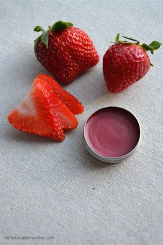 Flavored Homemade Lip Balm using all natural ingredients - wish a splash of color and real fruit flavor! (many recipes)
