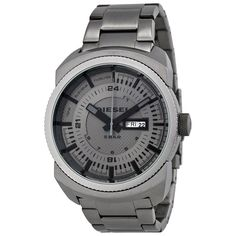 Product Specifications Information Brand:DieselCode:Diesel DZ1472Gender:MensMovement:Quartz Case Diameter:47 mmCase Thickness:13 mmCase Material:Grey PVD Stainless SteelCrown:Pull / PushCase Shape:RoundCase Back:SolidBezel Material:Fixed Grey PVD Dial Crystal:Scratch Resistant MineralHands:GreySecond Markers:24 Hour Markings. Minute Markers around the outer rimDial Color:Gunmetal Bracelet Band Width:25 mm Features Water Resistance:50 meters / 165 feetFunctions:Date, Day, Hour, Minute…