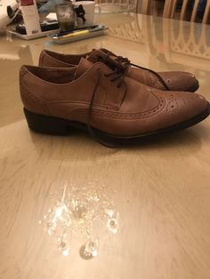 839946cd0e4 Brown merona mens dress shoes size 7 Condition is Pre-owned.