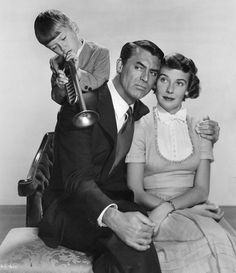 "George Winslow, Cary Grant y Betsy Drake en ""Hogar, Dulce Hogar"" (Room For One More), 1952"