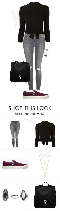 """Untitled #102"" by jmatz on Polyvore featuring Topshop, Alexander McQueen, Vans, Forever 21, Proenza Schouler, women's clothing, women, female, woman and misses"