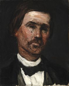 Paul CézanneFrench, 1839–1906  Head of a Man, 1865  Oil on canvas 16¾ x 13⅛ in. (42.5 x 33.3 cm)  Detroit Institute of Arts Detroit, Michigan, USA