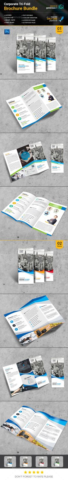 2 Tri-fold Brochure Templates PSD. Download here: http://graphicriver.net/item/trifold-bundle_2-in-1/16399578?ref=ksioks