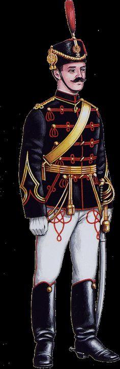 1912 Romanian Army hussars' parade dress uniform.