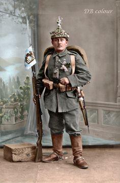 Frist World War Era, German Solider from Bavaria World War One, Second World, First World, Colorized Photos, Man Of War, Army Uniform, War Photography, Military Personnel, German Army