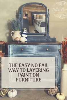 Learn the layering paint technique to bring your furniture finishes to the next level. This is the quick and easy guide to layering paint on furniture! Colorful Furniture, Unique Furniture, Shabby Chic Furniture, Furniture Making, Bedroom Furniture, Furniture Design, Furniture Ideas, Furniture Refinishing, Furniture Stores