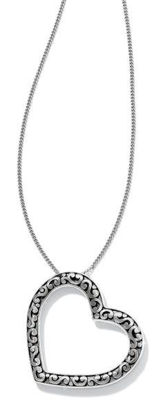 97286aeec1a Our popular Contempo Collection motif is fashioned into a bold,  open-hearted pendant that