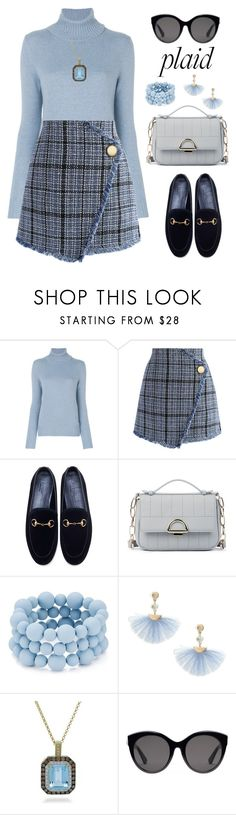 """Untitled #2374"" by ebramos ❤ liked on Polyvore featuring Loro Piana, Chicwish, Gucci, Sole Society, Aqua, Shashi and Dabakarov"